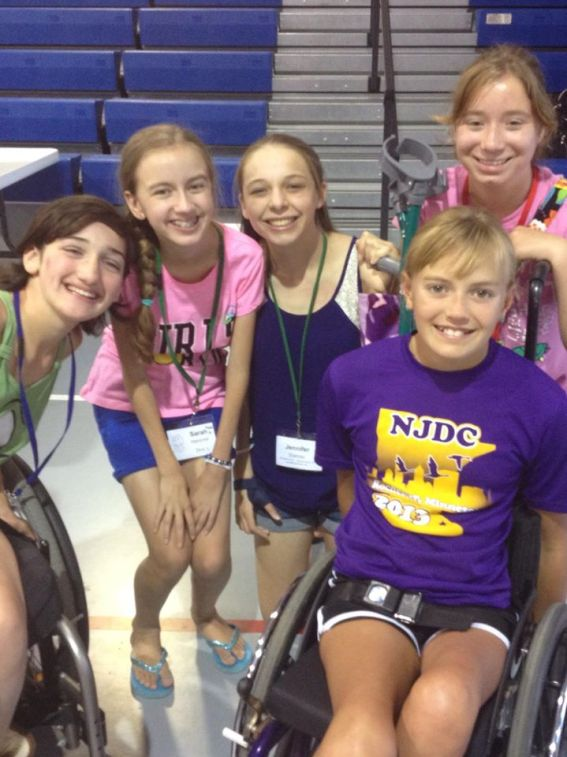 Friends from Transverse Myelitis camp